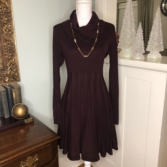 56834e916c Calvin Klein Dresses   Skirts - Calvin Klein Burgundy Cowl Neck Sweater  Dress